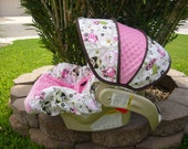 Owls in Tree with Bubble Gum Infant Car Seat Cover