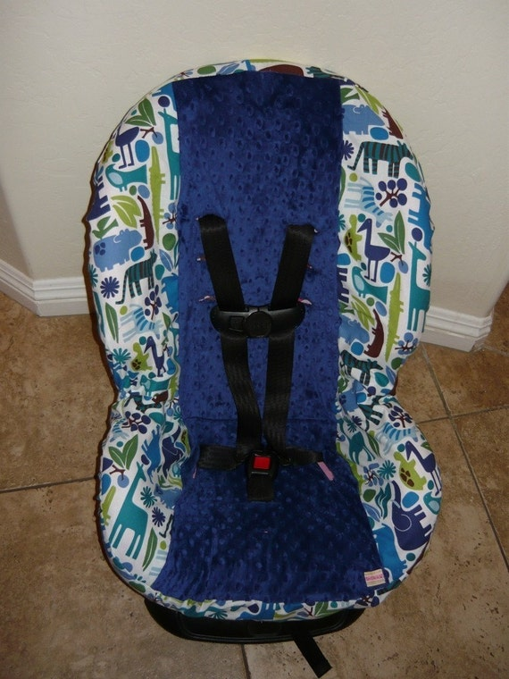 2D Zoo Toddler Car Seat Cover- fits infant too