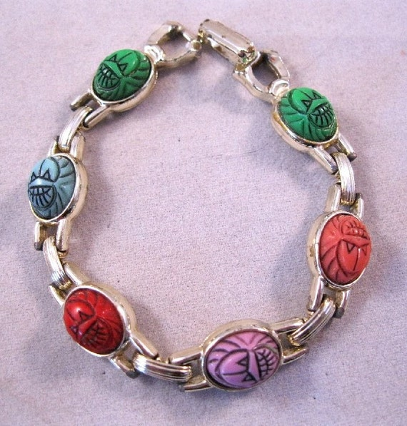 SALE Scarab Bracelet Child's Small FREE SHIPPING