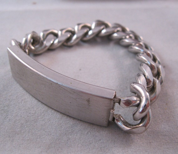 1960s speidel silvertone id bracelet 7 no monogram free