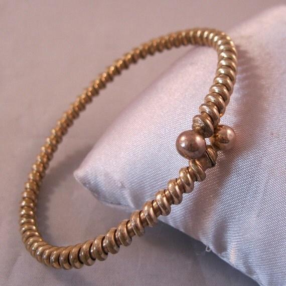 Victorian Snake Bracelet Gold Filled Twist Bangle