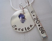 Personalized Sterling Silver Hand Stamped Name Necklace