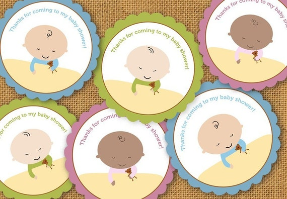 Printable Baby Shower Stickers or Favor Tags