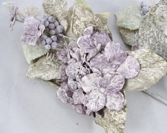 2 Purple Frosted Hydrangea picks