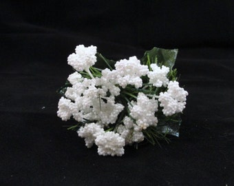 Snow sparkle glitter floral pick set of 5