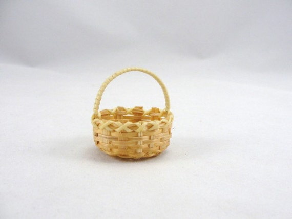 RESERVED Miniature woven baskets set of 12