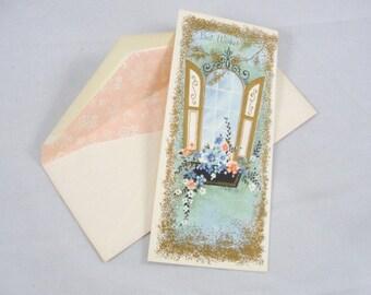 Vintage unused Greeting card Get Well Soon