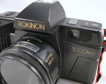 Vintage Rokinon camera,  Rokinon 3000 e/d, vintage film camera