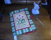 """Fabric Journal Quilted """"Life Is Good"""" with Daisies  by Fabricartist21"""
