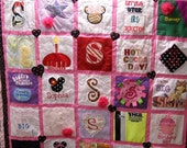 T-shirt  Memory Baby Cothes Quilt, Matching Pillow cover 50 .00  deposit only fabricartist21