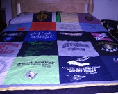 T Shirt Quilt Graduation Quilt   50  .00 deposit only  by Fabricartist21