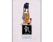good karma pug collage buddha dog custom black