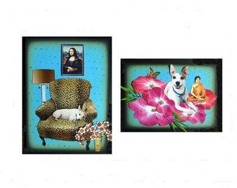custom collage dog sample tagt team art valentines day gift pet