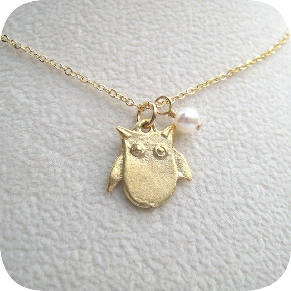 Custom Listing for Amy - Full Moon Owl, Matte Gold, Qty 2