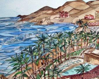 Acapulco,Mexico, Giclee Print