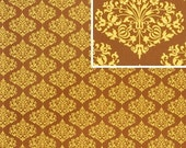 Amy Butler Midwest Modern 2 II Park Fountains Brown Fabric 1 Yard
