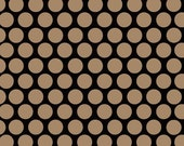 Adornit Vintage Groove Polka Dot Black fabric by the yard