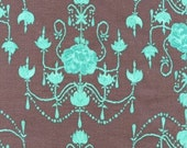 Tina Givens Olivia's Holiday Garden Chandelier Stone fabric by the yard