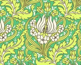 Amy Butler Soul Blossom Temple Tulips Emerald Home Dec LAST 1 1/2 YARD CUT