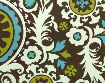 Premier Prints Suzani Chocolate/Natural Home Decor fabric by the yard