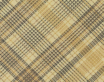 Michael Miller Country Plaid in Tan fabric by the yard