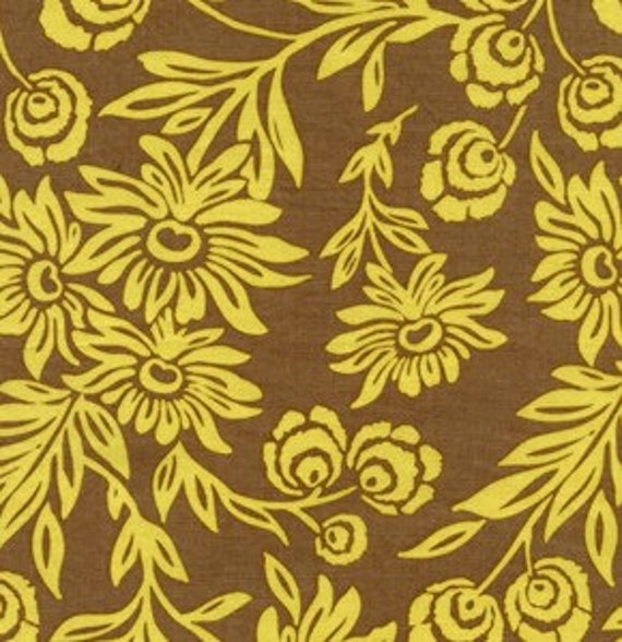 Joel Dewberry Modern Meadow Hand Picked Daisies Sunglow fabric by the yard