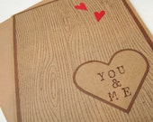 Carved our names in wood, Love You Keepsake Accordian style Card, Add your own personal touch with printed pictures