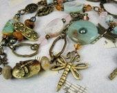 Dragon Fly Necklace gemstones