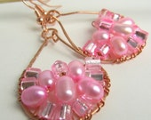 Fandango in Pink Pearls Earrings