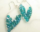 Sterling Silver Fandango Leaf Earrings