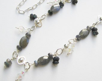 Flash and Fire Labradorite Necklace
