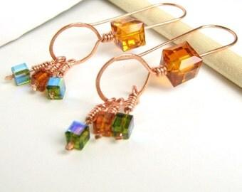 Modern Cubist Earrings