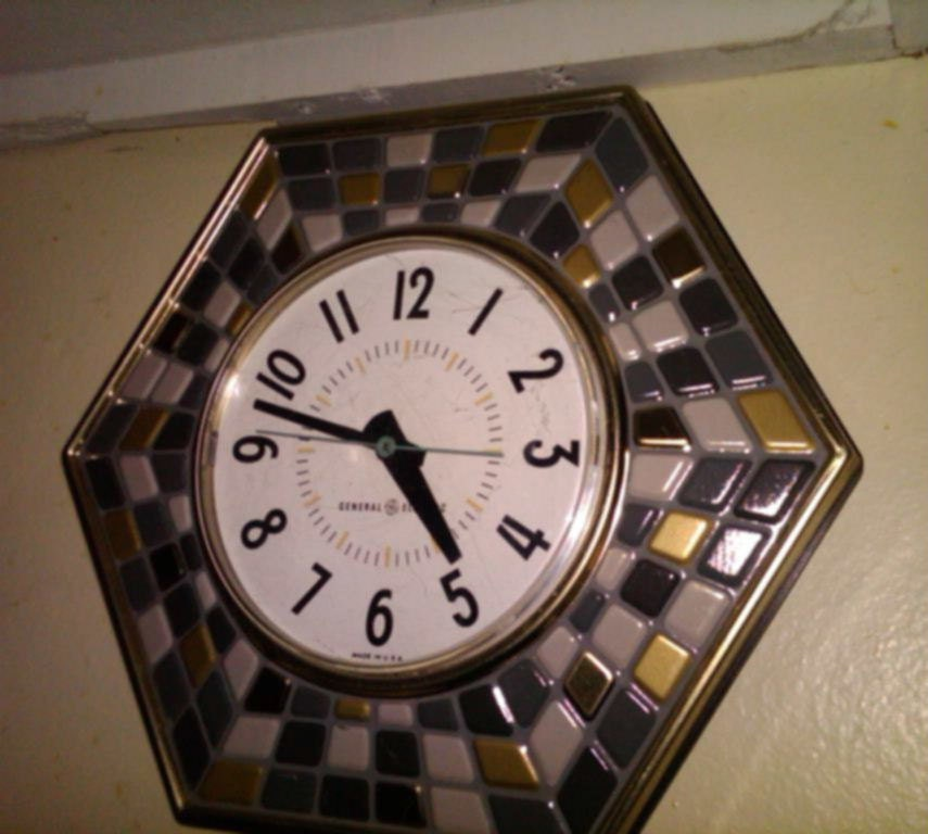 Items similar to SALE retro mosaic kitchen wall clock by