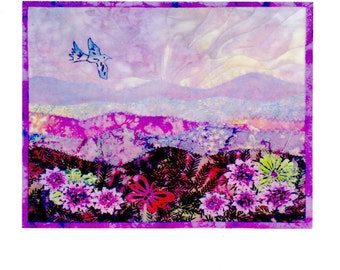 Mountain Meadow Landscape Quilt Wall Hanging Pattern