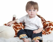 Pull On Pants Dark Denim Trousers Zoo Animals Lions Tigers Zebras sizes 9m - 5T