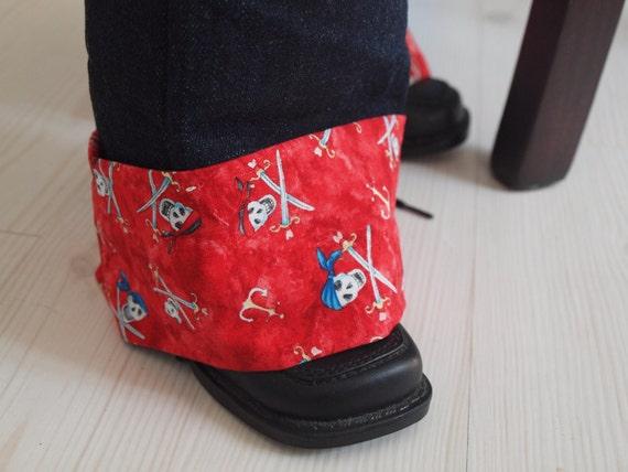 Pull On Pants Dark Denim Trousers Pirates Skulls Swords CHoOSE size CHoOSE color