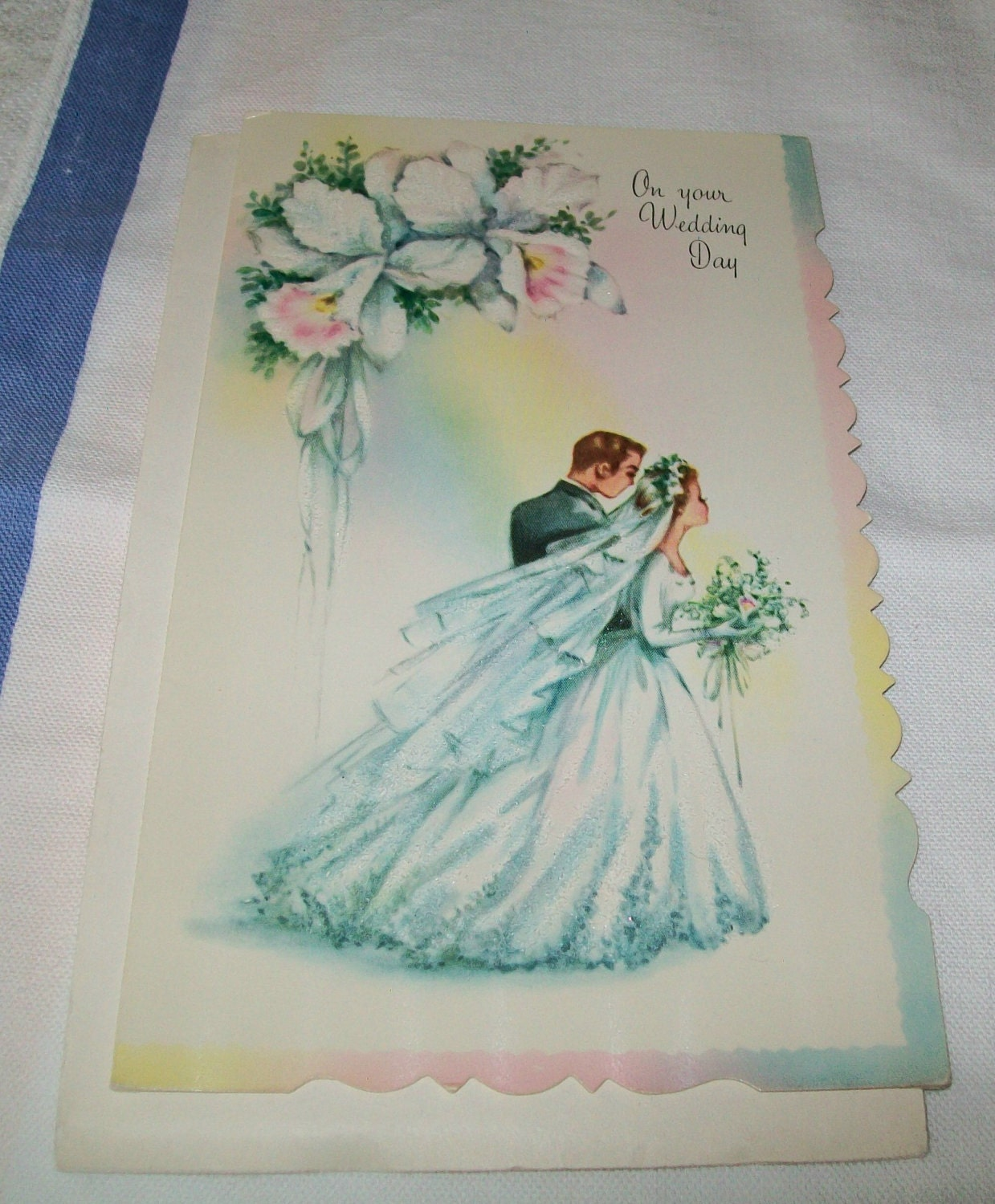 Wedding Cards: Vintage Wedding Card Unused Greeting Card 1960s 1950s