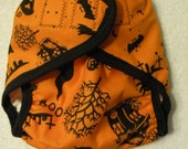 BOO Halloween Diaper Cover
