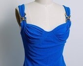 Electric Blue Body con Dress. Paris.