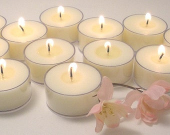 Soy Candles UNSCENTED Soy Tea Lights - 12 count