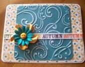 Golden Autumn Card