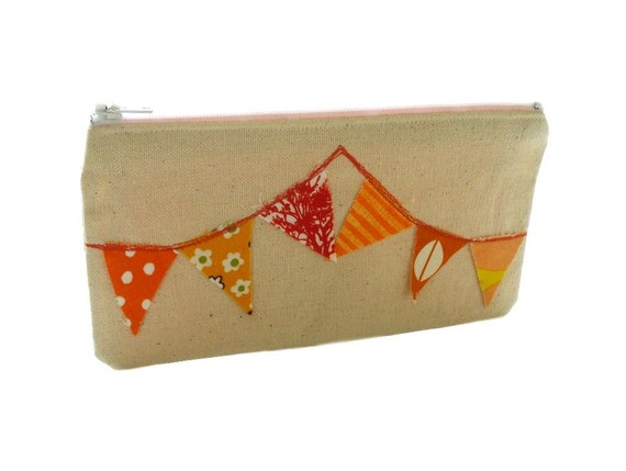 The Bunting Pouch - in Tangerine