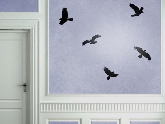 Flying Crows - Wall Decal Set