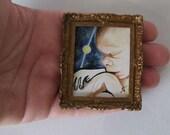 Oil Painting - Original Miniature Painting - Wormhole Baby