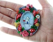 Acrylic Original Miniature Painting/ Dollhouse Decor Tiny Art/ SALE 50% off