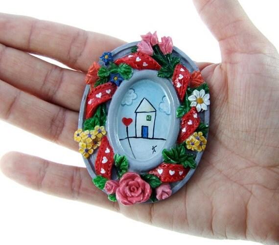 Original Miniature Painting, Acrylic Painting, Home Decore, Dollhouse Tiny Art, Tiny Painting, SALE 50% off