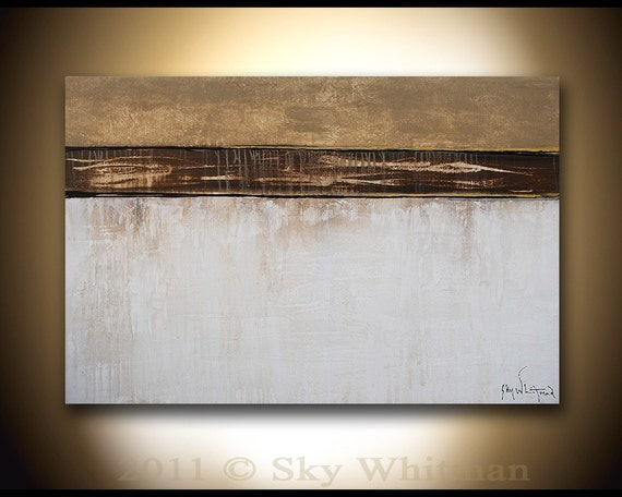 Original Modern Abstract Art Raw Organic Textured Contemporary Painting By Sky Whitman Free Shipping