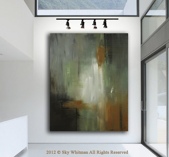 Original Modern Art HUGE Abstract XXL Contemporary Raw Painting  48 X 60 by Sky Whitman
