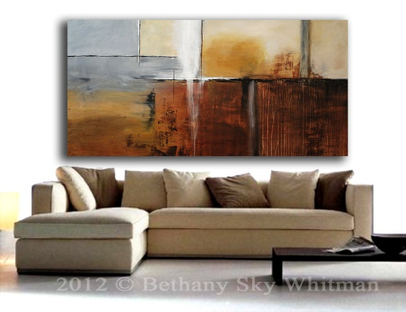 RESERVED for bdk1 Massive Original Modern Abstract art 6ft Contemporary Large Painting Sky Whitman 36 X 72  Ready To Hang FREE SHIPPING