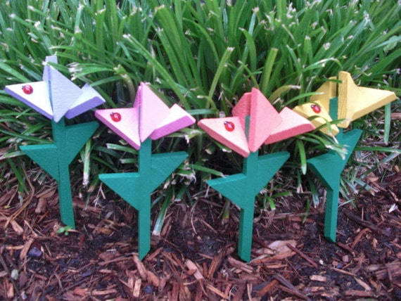Flower Stakes - Smaller Flower Stakes by ABCbirdhouses